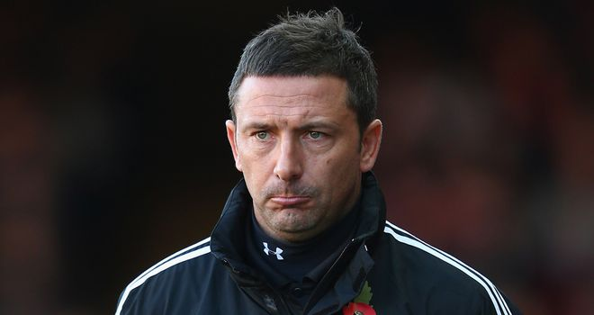 McInnes: Unhappy with first-half display against Leicester City