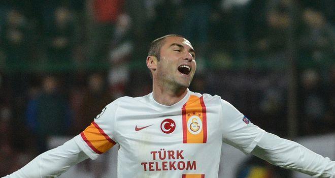 Burak Yilmaz: Hat-trick for Galatasaray