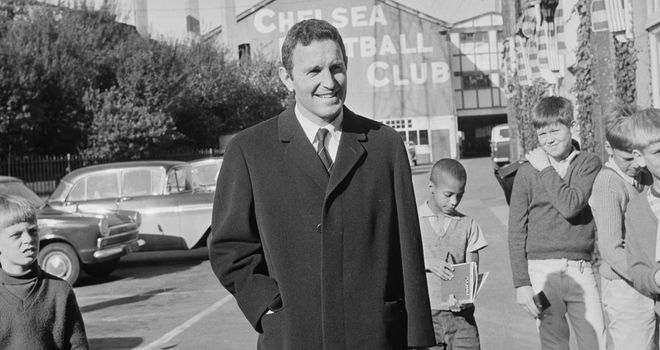 Dave Sexton outside Stamford Bridge in October 1967
