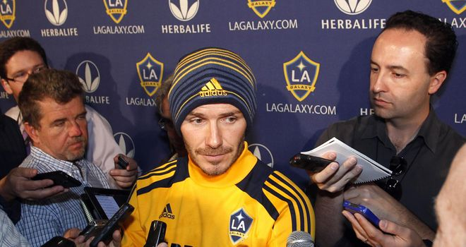 David Beckham: Sparked a media frenzy when he revealed plans to leave LA Galaxy