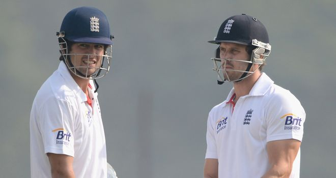 Alastair Cook and Nick Compton: Openers batted throughout evening session