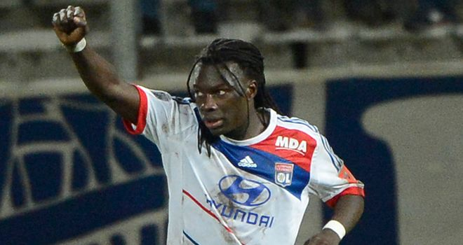 Bafetimbi Gomis celebrates for Lyon