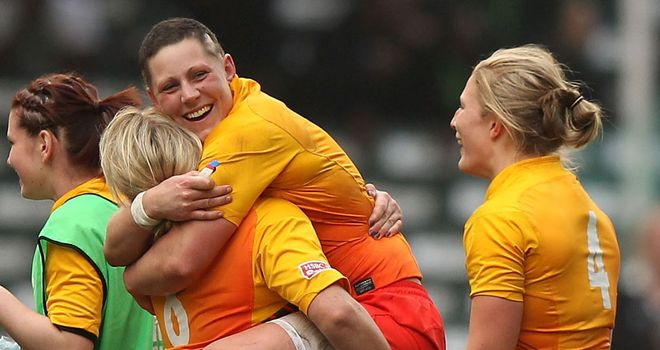 Hong Kong heroines: Heather celebrates England's dramatic Sevens victory