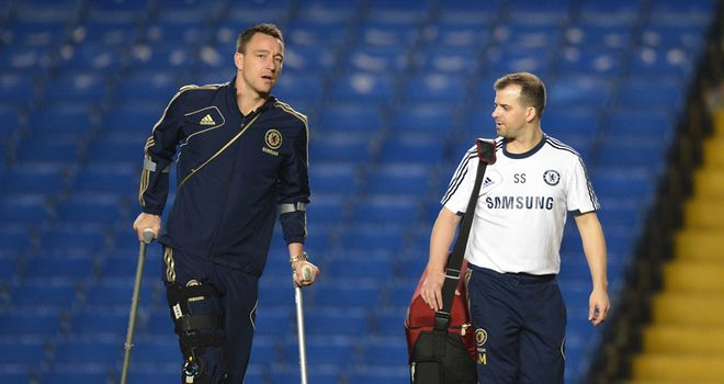 John Terry: Chelsea captain will undergo MRI scan on knee injury on Monday