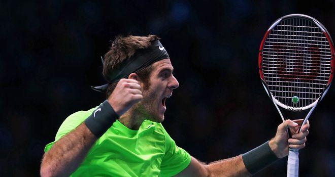 Juan Martin Del Potro: celebrating victory over Roger Federer
