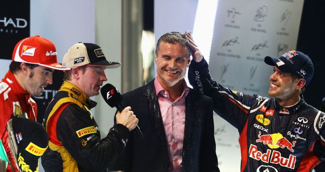 Sebastian Vettel (r): Has apologised for swearing live on air