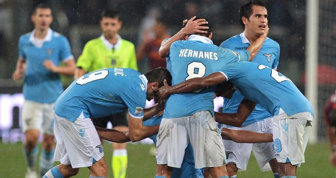 Derby delight for Lazio