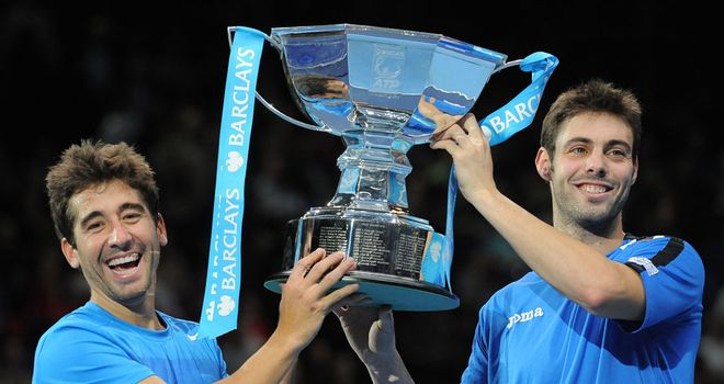 Marc Lopez (l) and Marcel Granollers: Winners of doubles title at ATP World Tour Finals