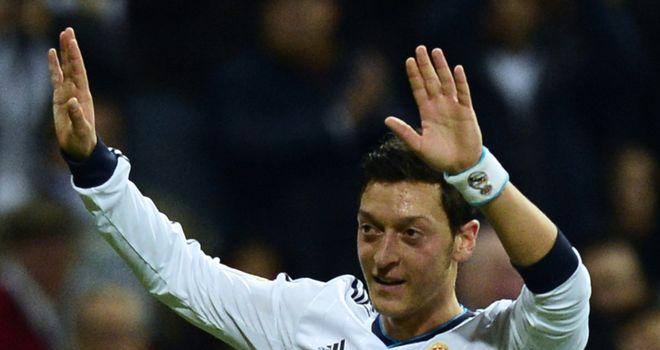 Mesut Ozil celebrates his goal