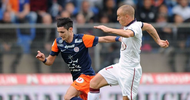 Remy Cabella in action for Montpellier