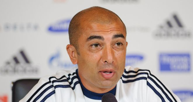 Di Matteo: the Italian's Chelsea team face a tricky tie with Shakhtar