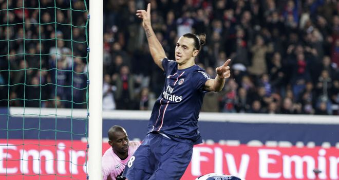 Zlatan Ibrahimovic: Celebrates goal for PSG