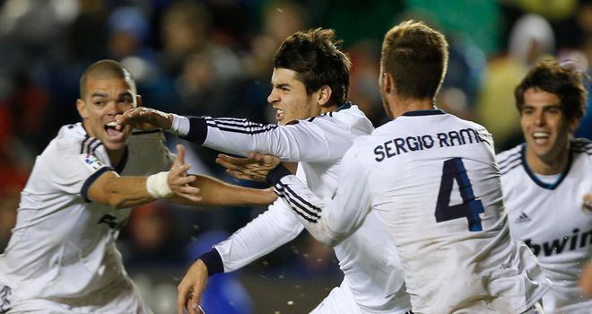 Pepe (l): Celebrates Madrid's late win