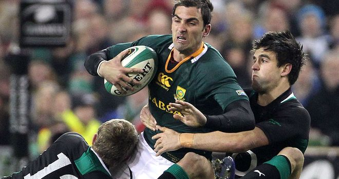Ruan Pienaar scored the only try of the match for the Springboks
