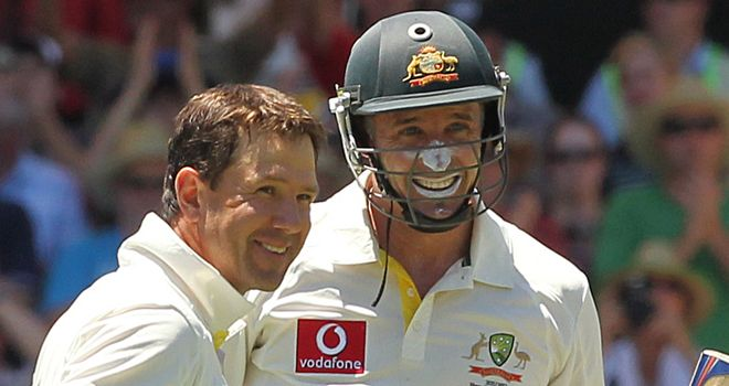 Ricky Ponting and Mike Hussey: No return for Ashes