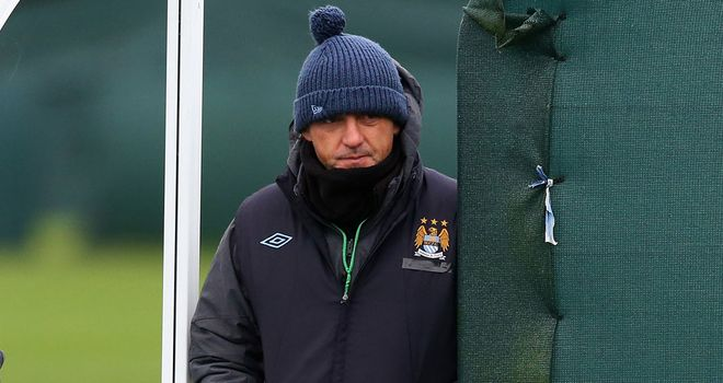Roberto Mancini: Preparing to face a strong Chelsea side on Sunday