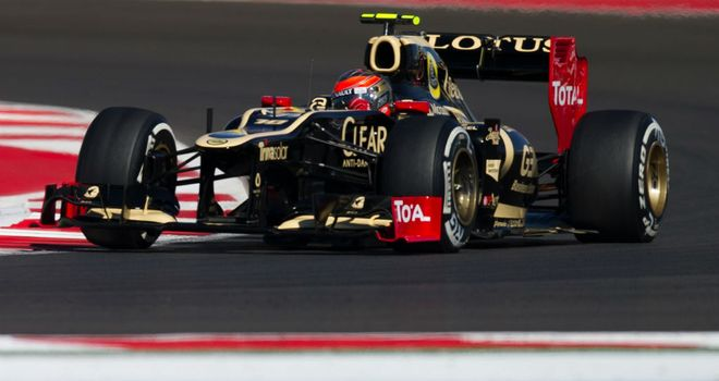 Roman Grosjean in this season's Lotus