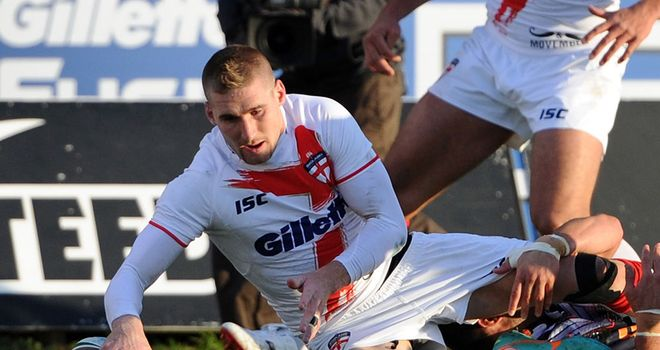 Sam Tomkins touches down against France at New Craven Park
