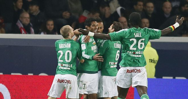 St Etienne celebrate against PSG