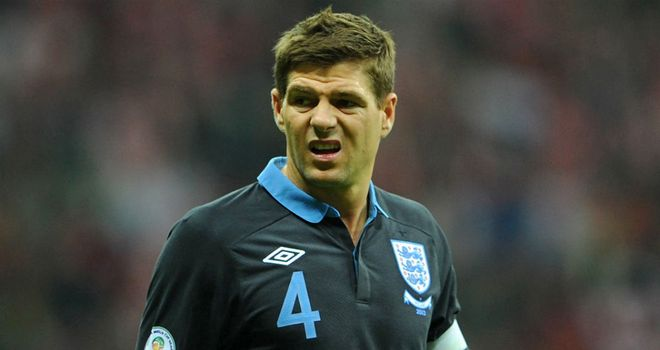 Steven Gerrard: England's captain is expected to win his 100th cap against Sweden in Stockholm