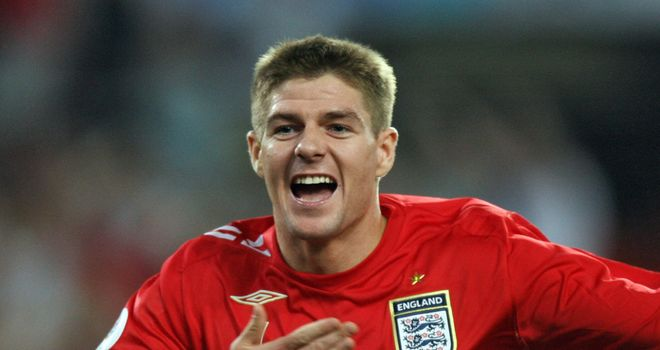 Gerrard: the Liverpool skipper is set to win his 100th England cap on Wednesday