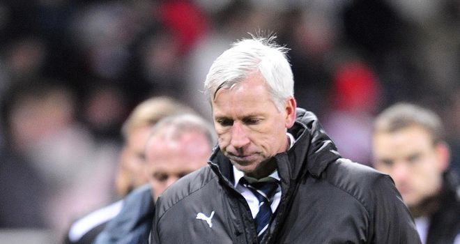 Alan Pardew: Admits Newcastle are looking over their shoulders in the Premier League