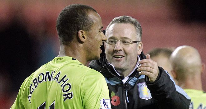 Aston Villa boss Paul Lambert has been impressed by Gabriel Agbonlahor