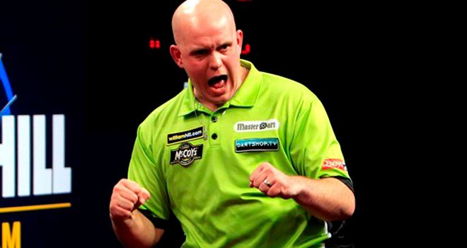 Michael van Gerwen: Knocked four-time champion Phil Taylor out of the Grand Slam of Darts