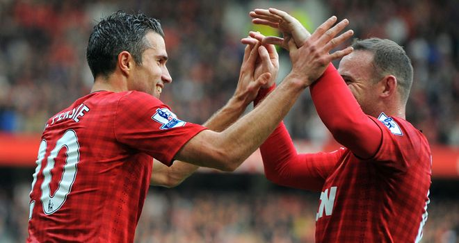 Robin van Persie and Wayne Rooney were the match-winners on Sunday as the red half of Manchester prevailed 3-2