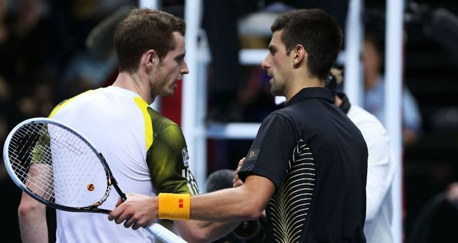 Andy Murray and Novak Djokovic: Set to battle for top spot in 2013