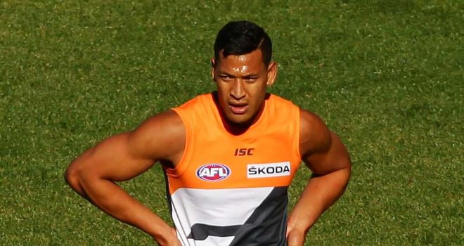 Israel Folau: Aussie Rules experiment is over