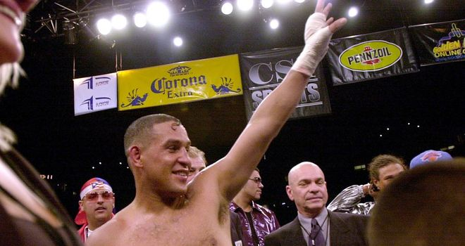 Hector Camacho after beating Roberto Duran in 2001