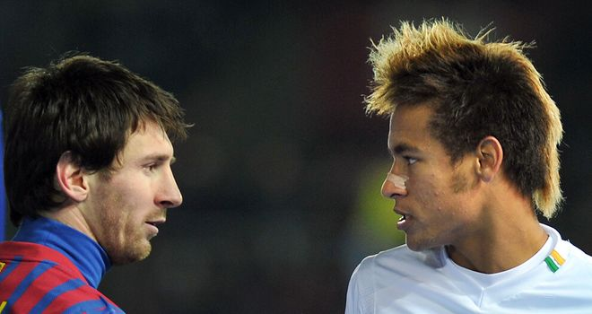 Messi and Neymar: A defender&#39;s nightmare, and Santos coach Ramalho thinks it should happen