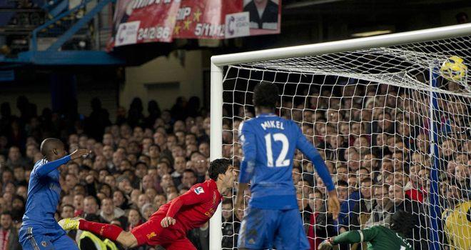 Luis Suarez: Celebrated his Stamford Bridge equaliser on his own
