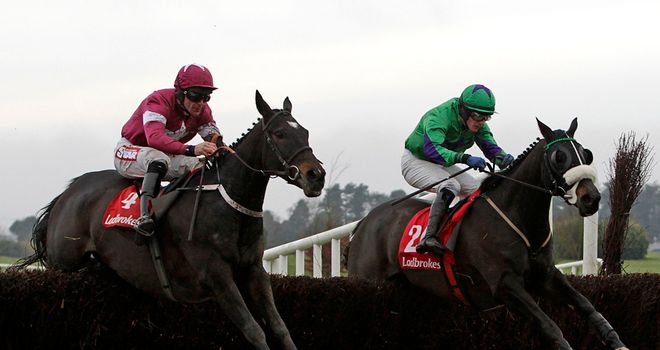 Tofino Bay (left): On his way to victory in the Troytown Chase