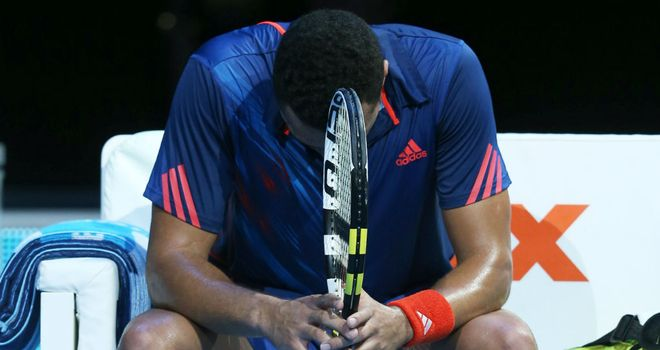 Tsonga: beaten and on the verge of leaving the tournament