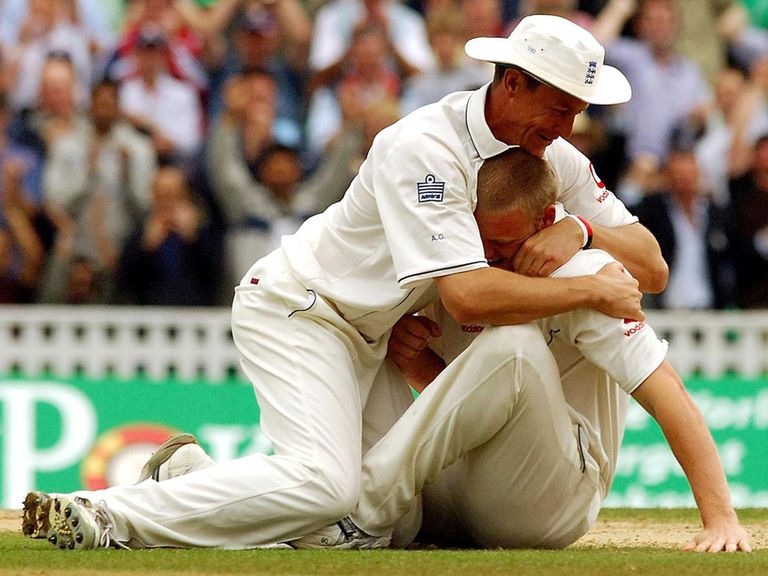 Ashley Giles and Andrew Flintoff enjoyed success for England.