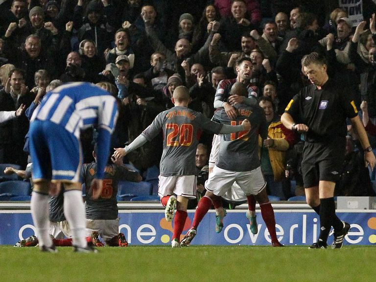 Bolton salvaged a point at Brighton