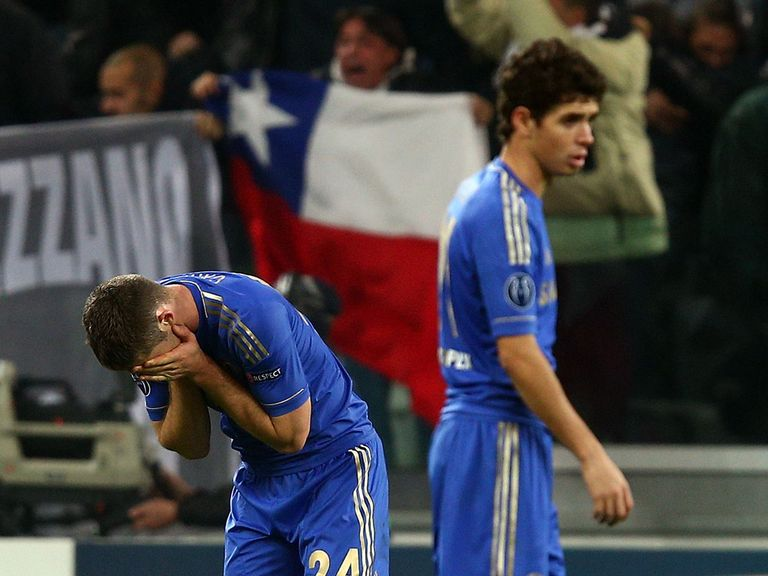 Despondent Chelsea after the loss to Juve