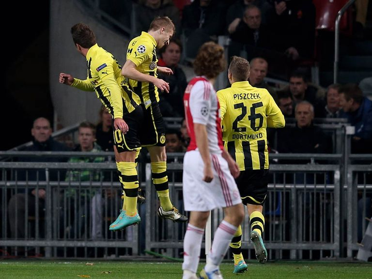 Marco Reus was on target as Dortmund thrashed Ajax