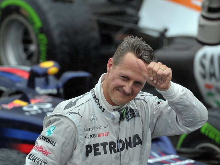 Schumacher: Lured back to action in 2010