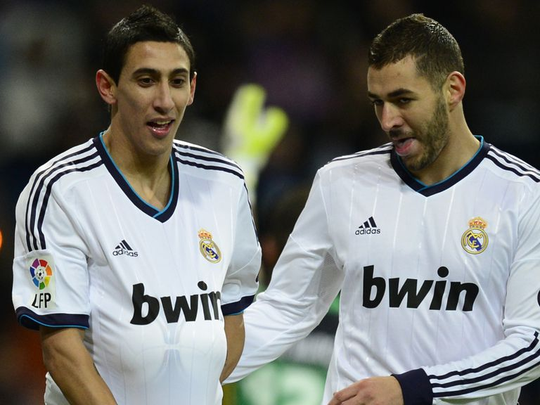 Di Maria and Benzema lead the celebrations for Real