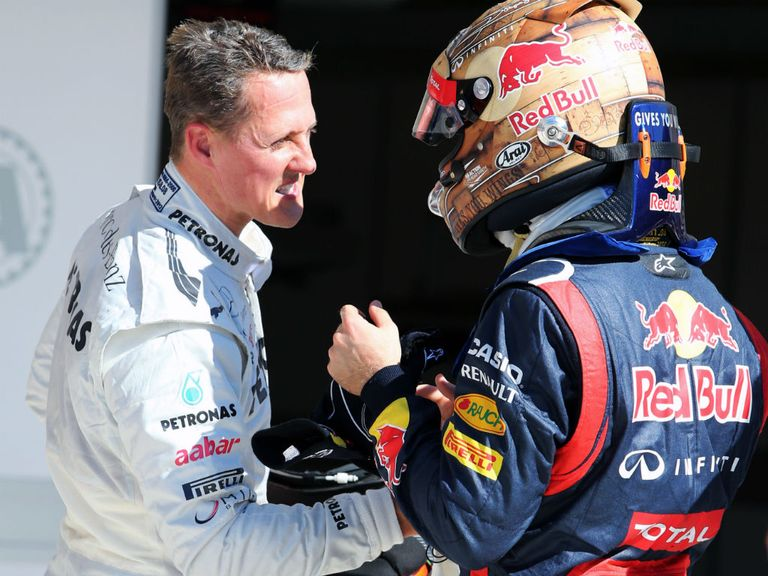 Michael Schumacher: Full of praise for Vettel