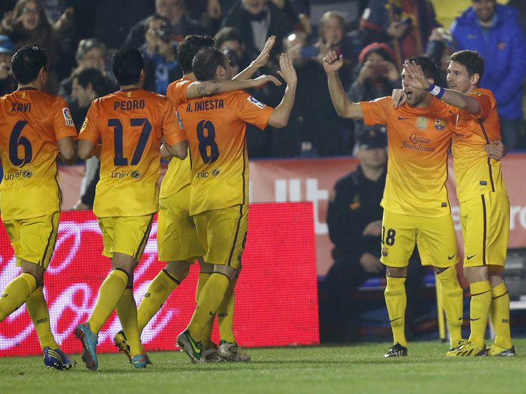 Barcelona celebrate another away success