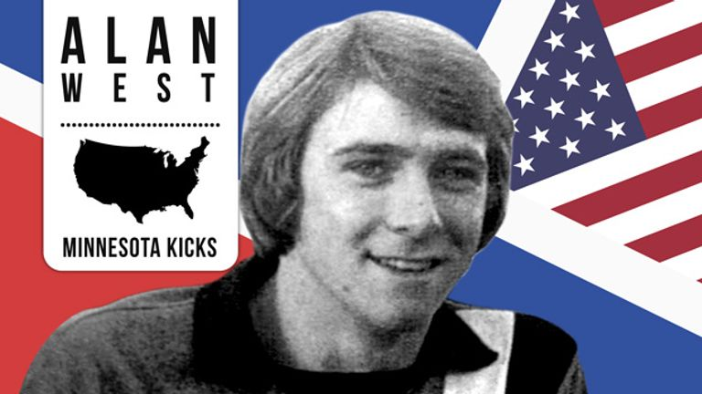 Alan West: The Luton midfielder spent his summers playing in America for the Minnesota Kicks