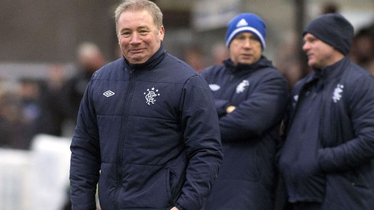 Ally McCoist (left): Win for Gers at Elgin on Saturday