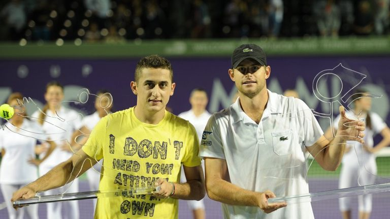 Nicolas Almagro beat Andy Roddick 6-4 7-5 in the Miami Tennis Cup exhibition final