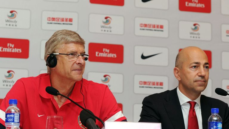Arsene Wenger with Arsenal chief executive Ivan Gazidis