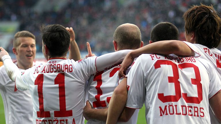 Tobias Werner opened the scoring for Augsburg