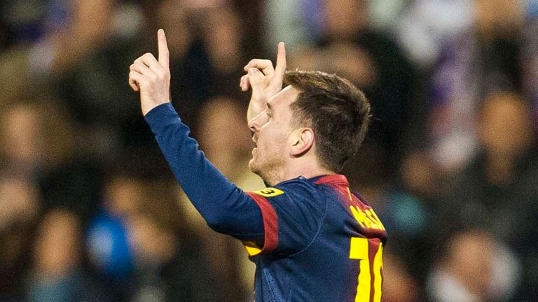 Lionel Messi: Could make history on Monday night